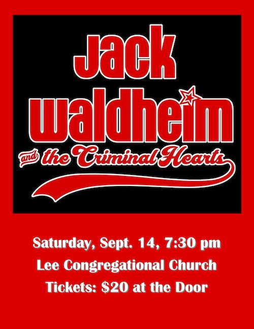 Jack Waldheim Concert Flyer 2019